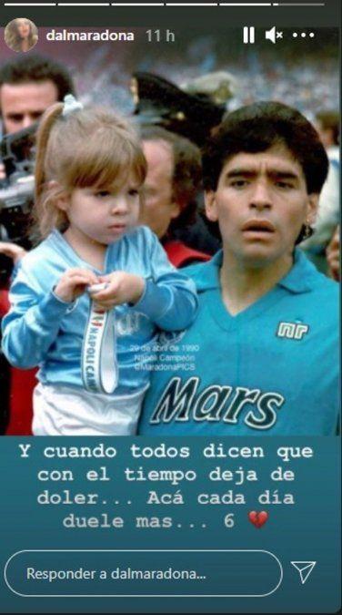 El recuerdo de Dalma a 6 meses de la muerte de Maradona