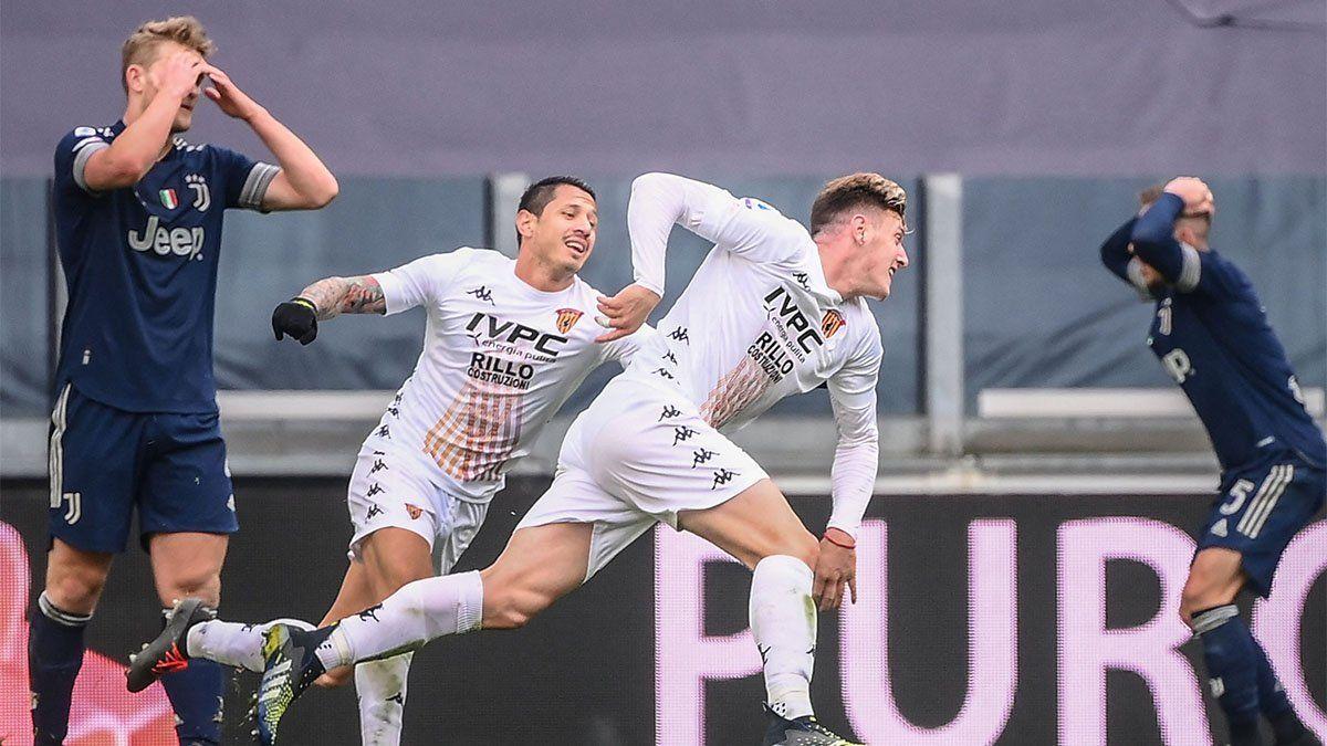 Gaich hizo historia y le dio el triunfo al Benevento ante Juventus