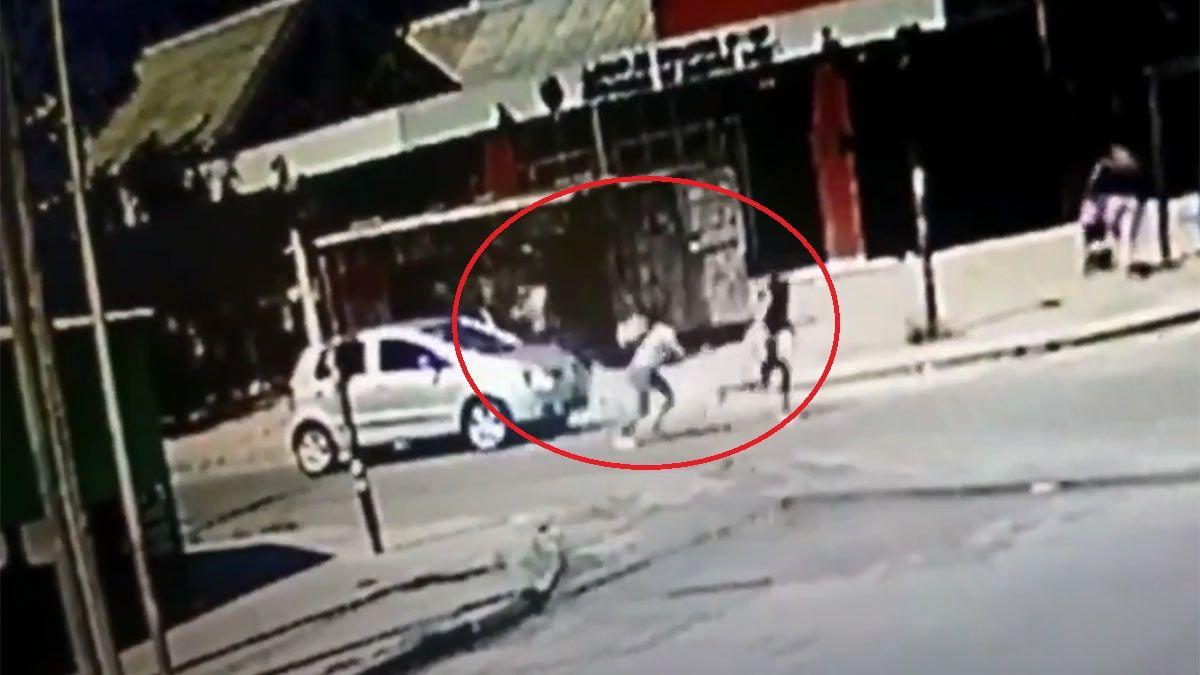 Captura de video: fusilaron a un kiosquero.