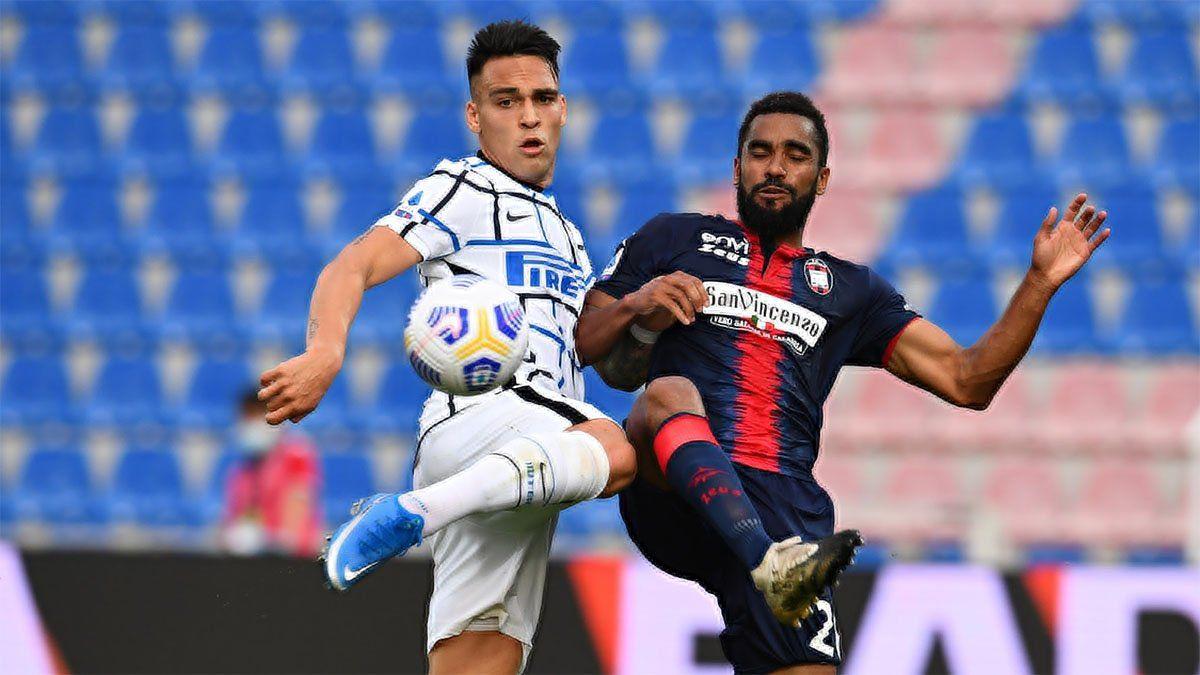 Con Lautaro Martínez, el Inter quedó al borde de ser campeón