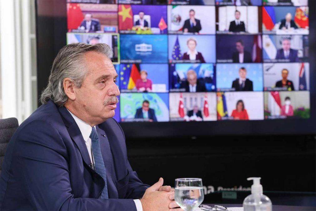 Alberto Fernández abogó porque los organismos de crédito internacional realicen pagos por servicios ecosistémicos y canjes de deuda por acción climática.