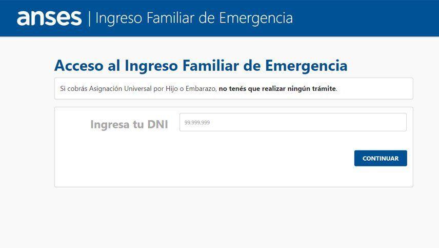 Mi ANSES| Bono 10000: cómo anotarse hoy para elegir el medio de cobro del Ingreso Familiar de Emergencia