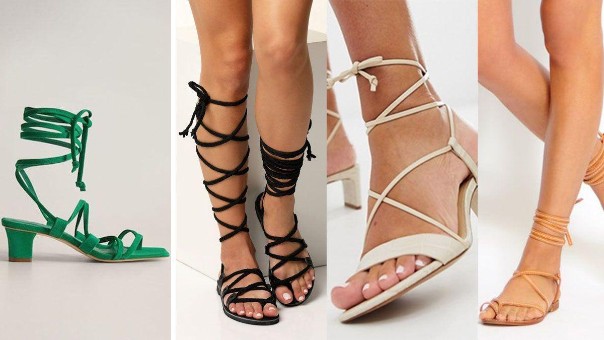 Las sandalias gladiadoras son delicadas y sofisticadas