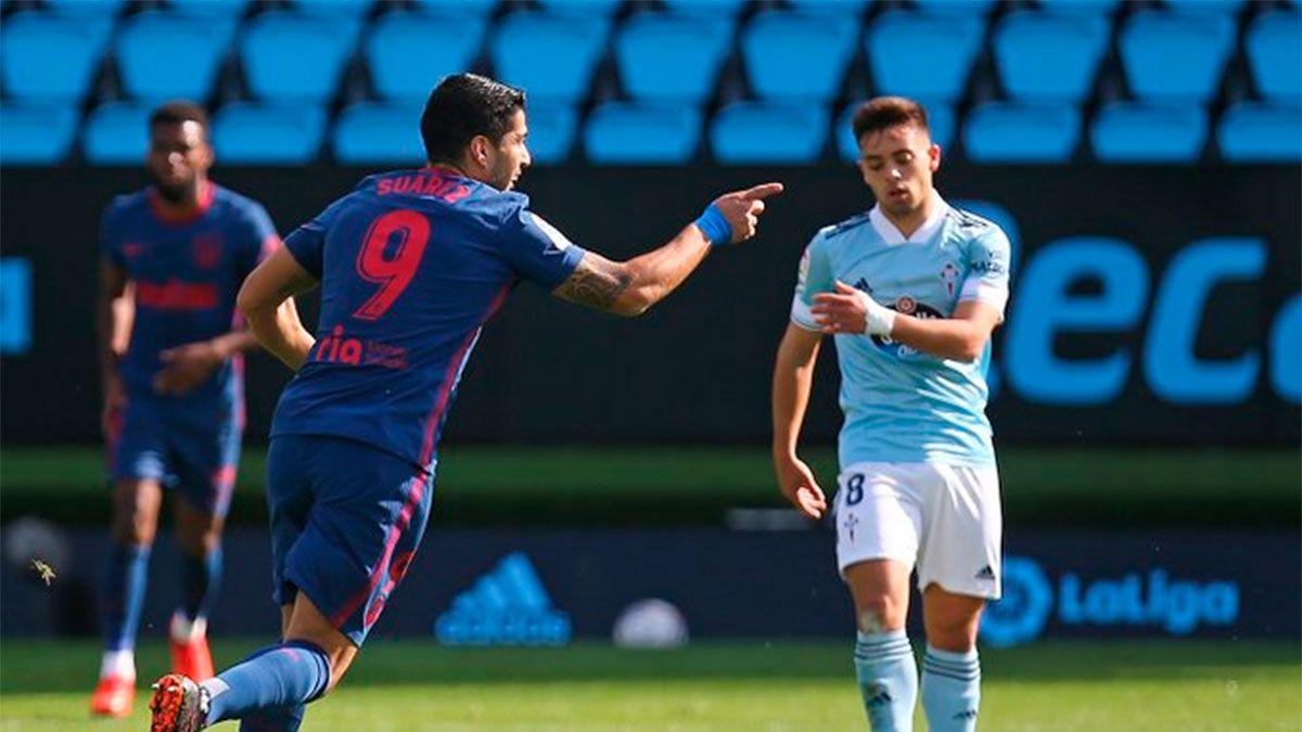 Luis Suárez abrió el camino del triunfo del Atlético