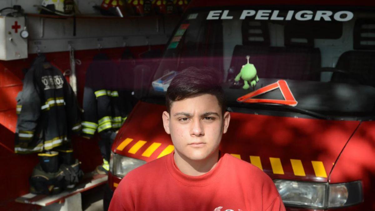 Lautaro fue protagonista en su ciudad natal. No dudó en auxiliar a una mujer y le salvó la vida