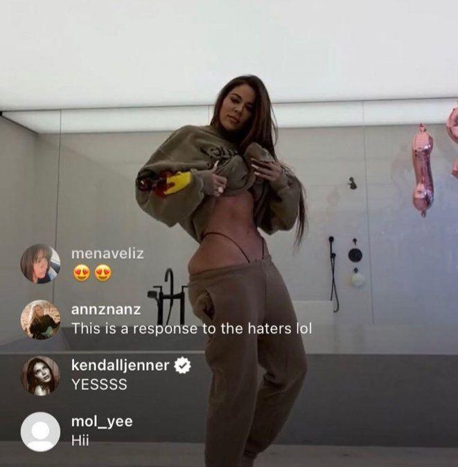 Khloé Kardashian se desnudó y filmó sin photoshop