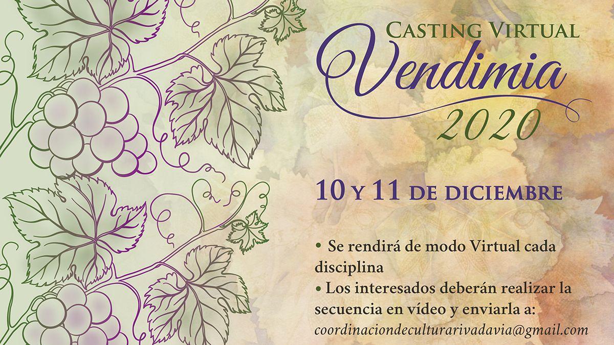Rivadavia anunció la apertura de inscripciones para el casting virtual Vendimia 2021.