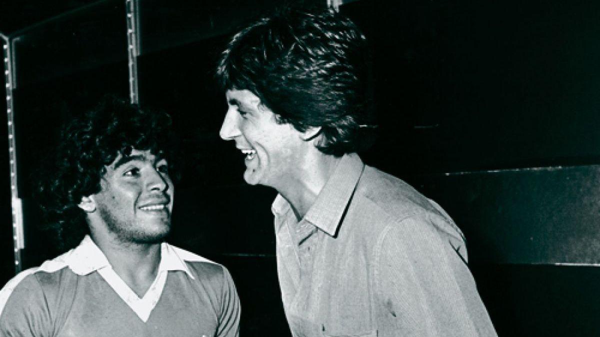 Diego Maradona y Carlín Calvo jugaron un partido juntos en 1991.