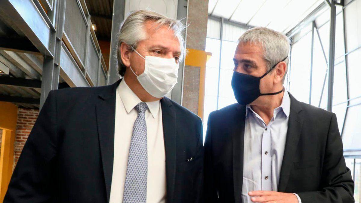 Alberto Fernández y Jorge Ferraresi