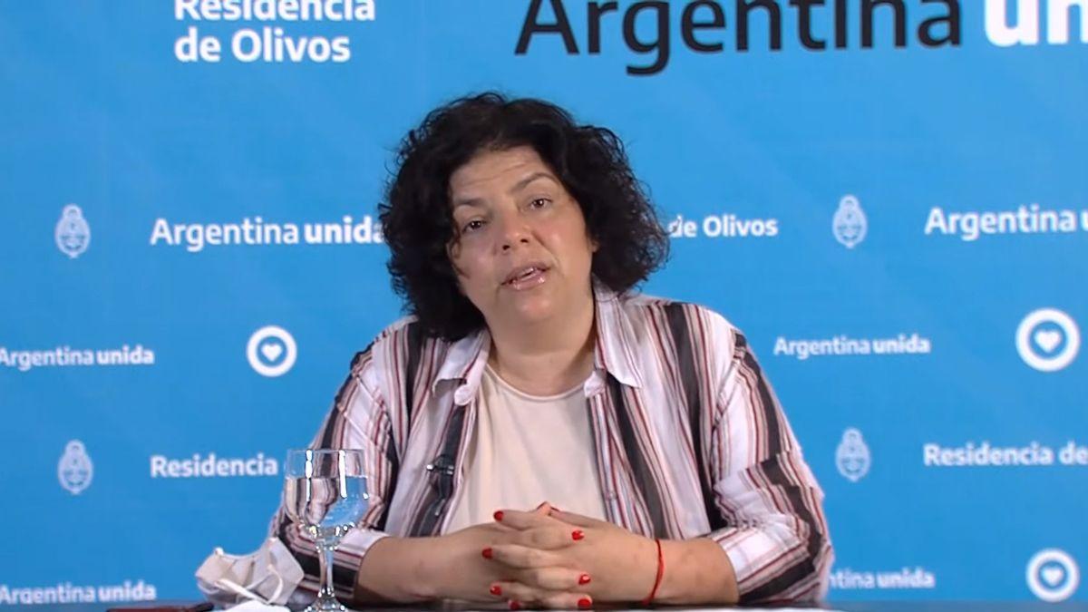 Carla Vizzotti afirmó que se están esperando los resultados sobre la combinación de vacunas.