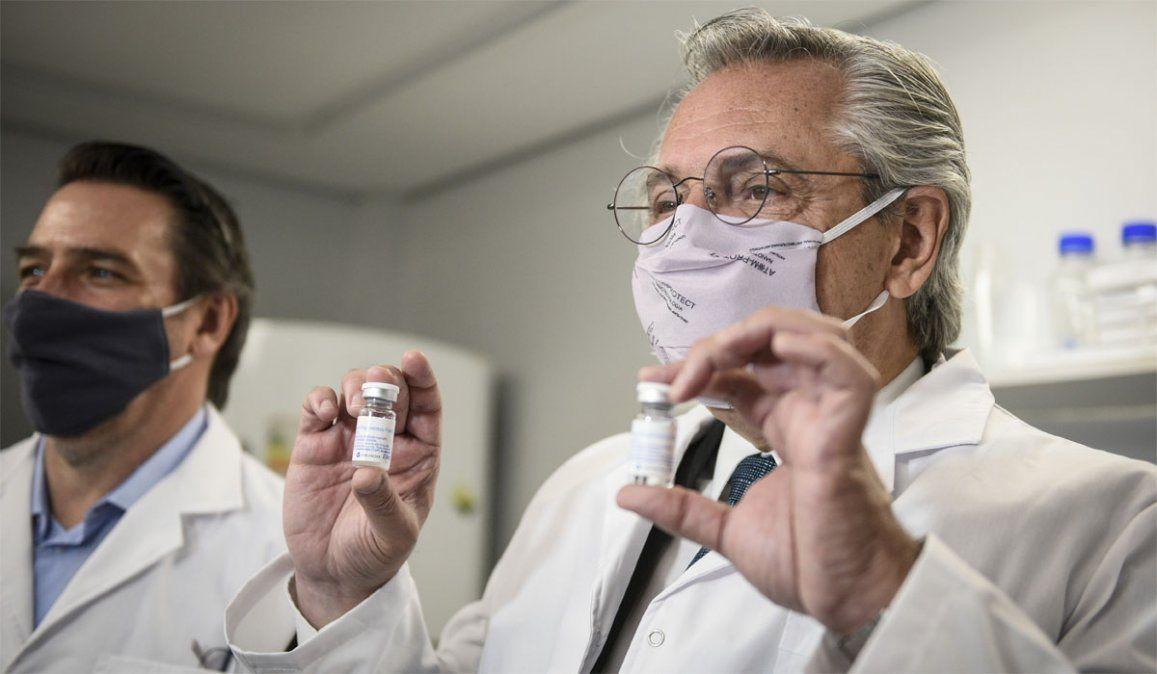 Este martes el presidente Alberto Fernández visitó lasinstalaciones de la compañía biotecnológica Inmunova