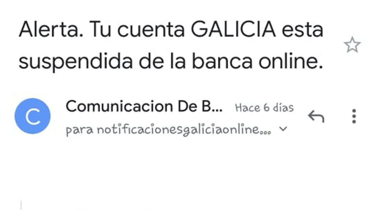 Estafa bancaria: así son los mails que mandan los delincuentes