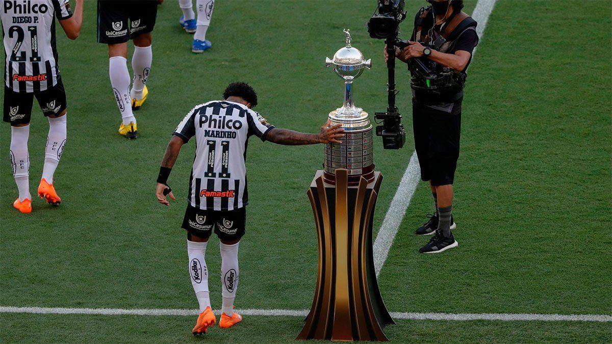 Marinho tocó la Copa Libertadores.