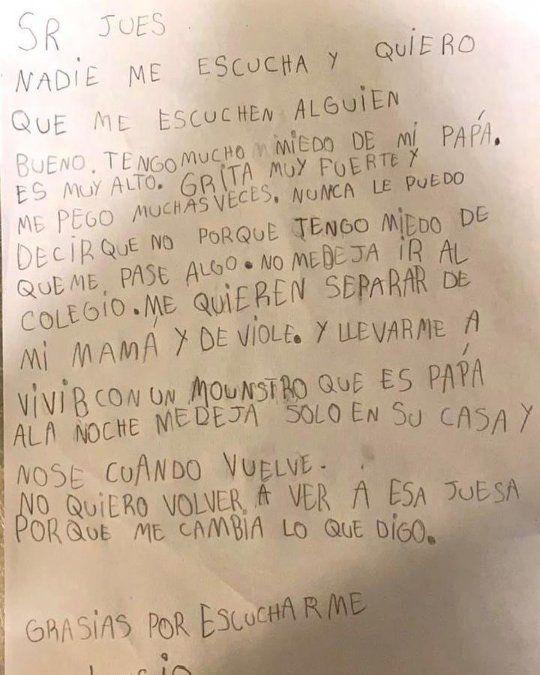La carta de Lucio al juez: Tengo miedo de vivir con un monstruo