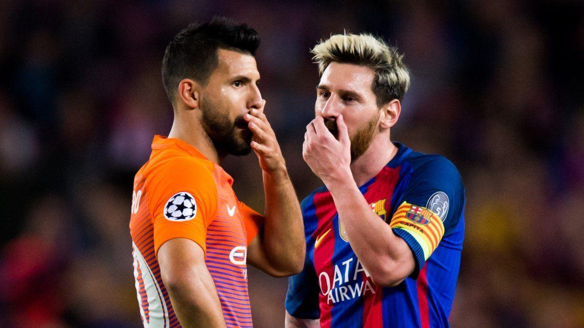 El Kun Agüero y Leo Messi podrían ser compañeros en el Barcelona.