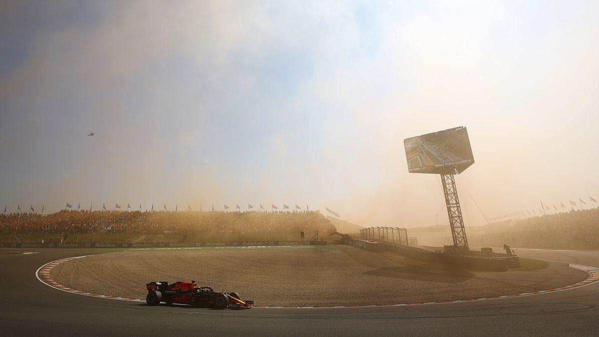 Max Verstappen celebró en el Gran Premio de Fórmula 1 de su país.