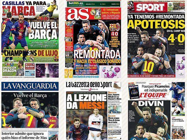 Los diarios del mundo hablan de la magia de Messi y el Barça