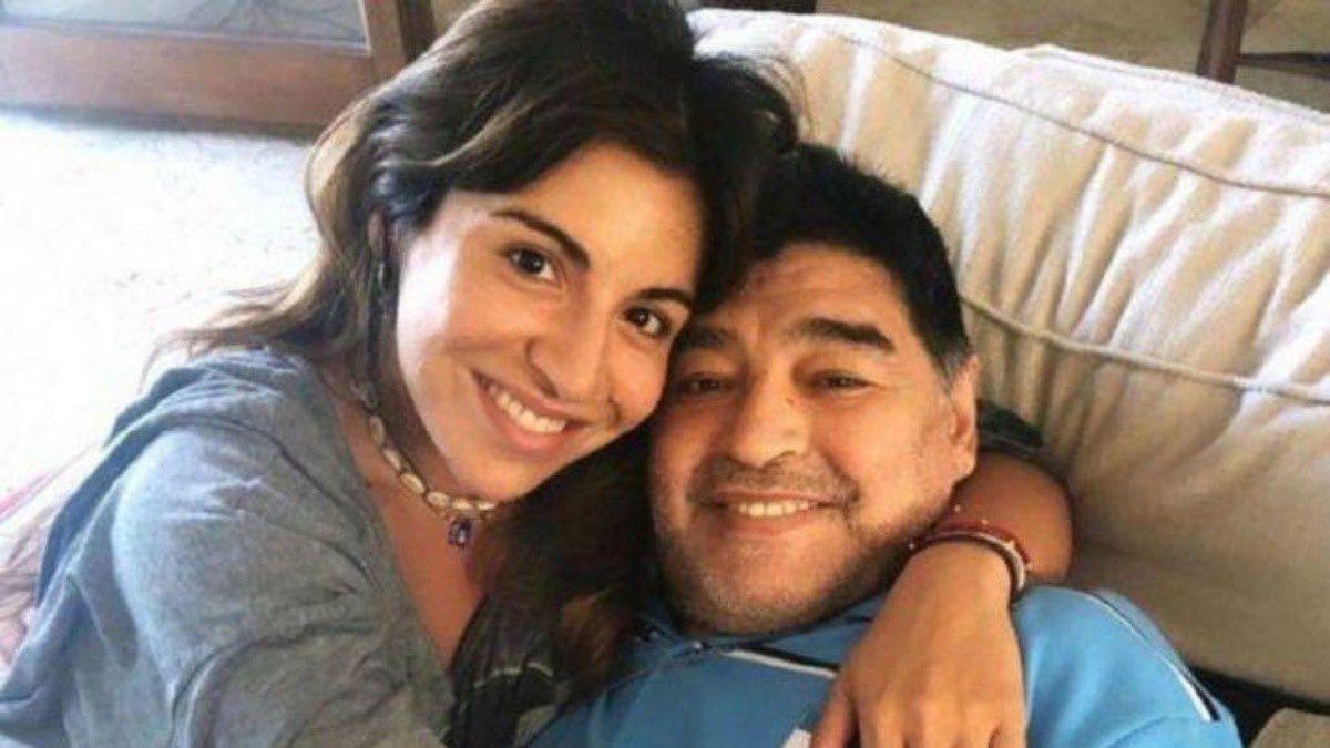 Gianinna y Diego Maradona.