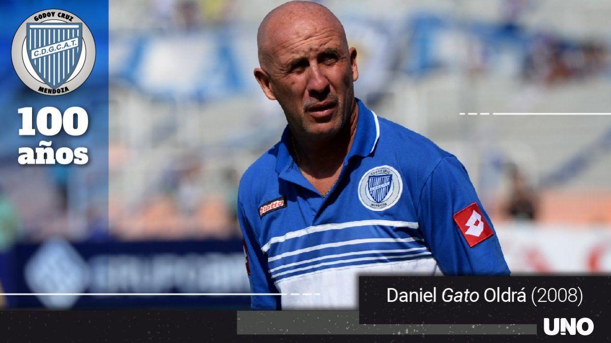 El Gato Oldrá es todo un símbolo en Godoy Cruz como jugador y entrenador.