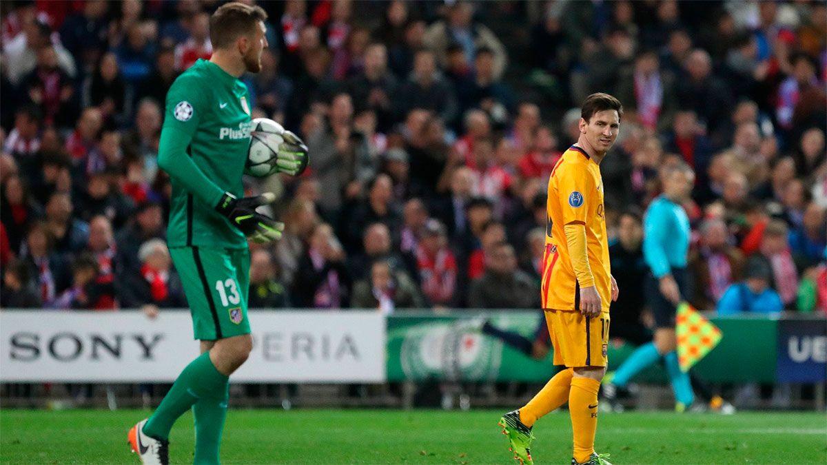 Lionel Messi ya le anotó en diez ocasiones al esloveno Jan Oblak.