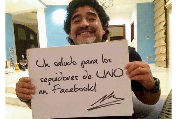 Vos poné el mensaje... que Diego lo firma y lo muestra al mundo