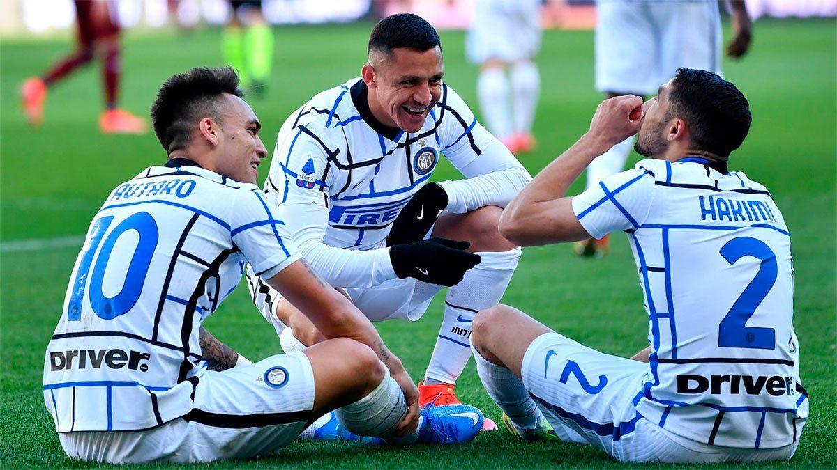 Lautaro Martínez le dio el triunfo al Inter y sigue arriba