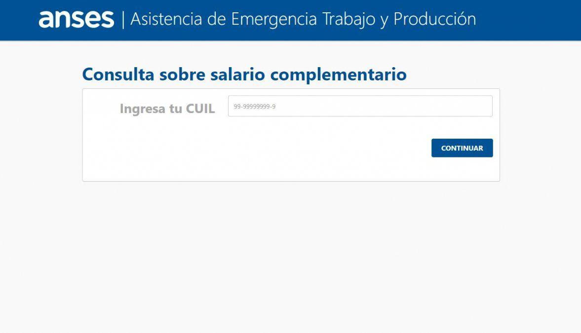 El pago de salarios privados de noviembre (ATP) ya está vigente en la página web de la AFIP como salario complementario
