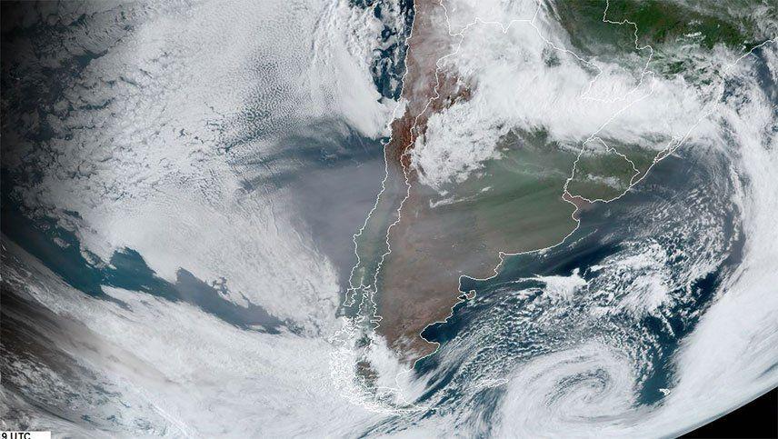 El humo de Australia volvió a apreciarse en el cielo de Mendoza y seguirá dos días