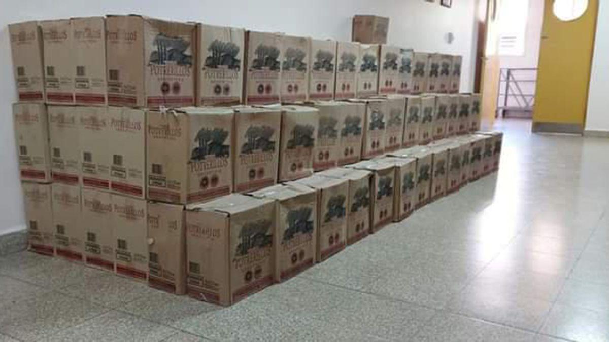 Un bodeguero regaló 200 cajas de vino para ser repartidas entre todo el personal del Hospital Perrupato