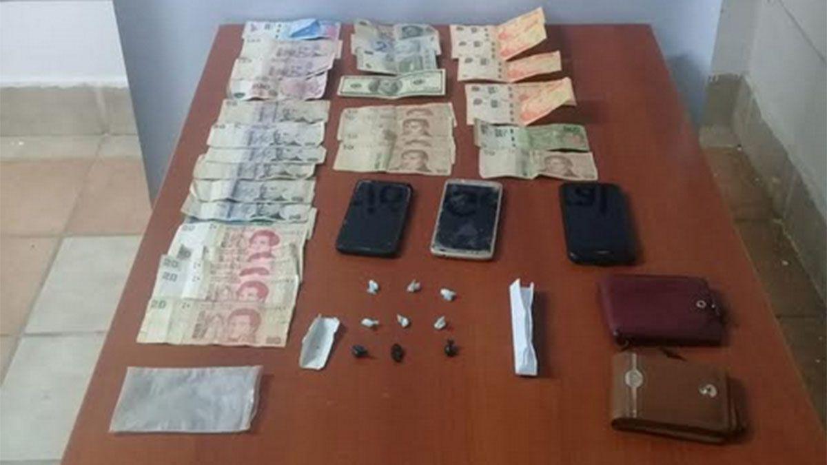 Capturaron a dos hombres con drogas y dinero