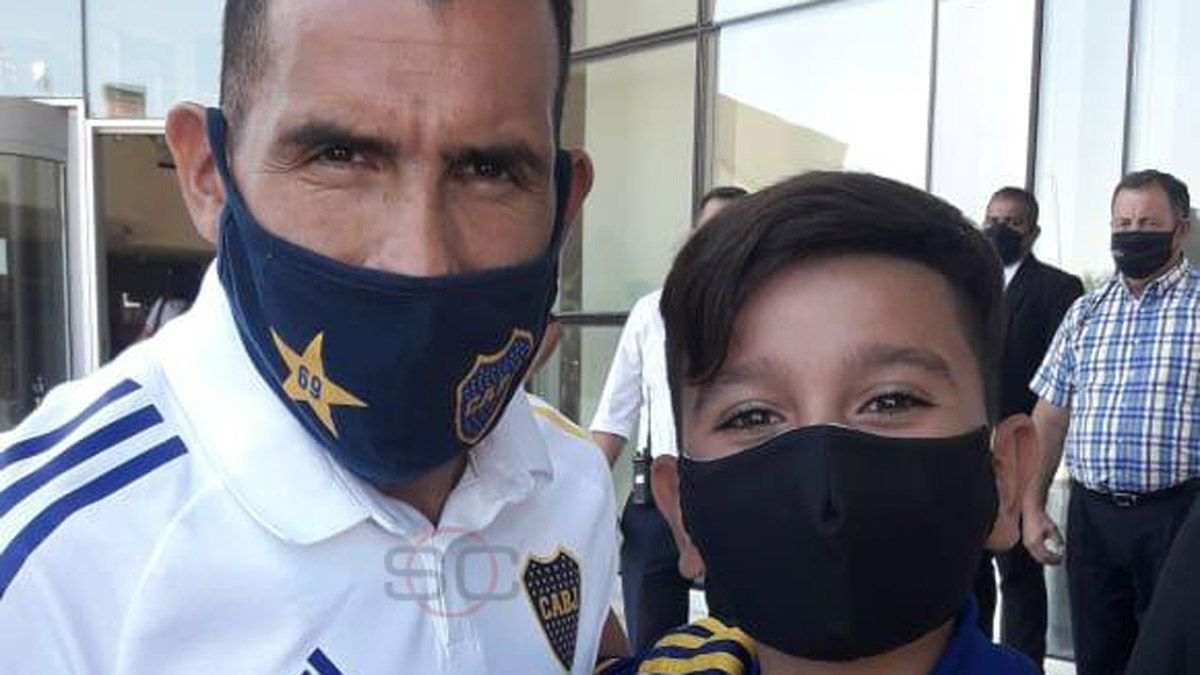 Tevez se llevó una sorpresa cuando llegó a San Juan