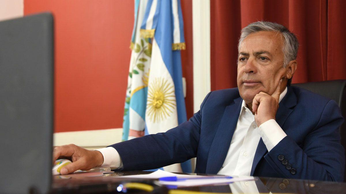 Alfredo Cornejo bajó el tono en sus críticas a Mauricio Macri.