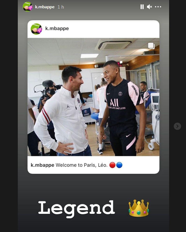 Kylian Mbappé recibió a Lionel Messi en su primer día en el PSG.