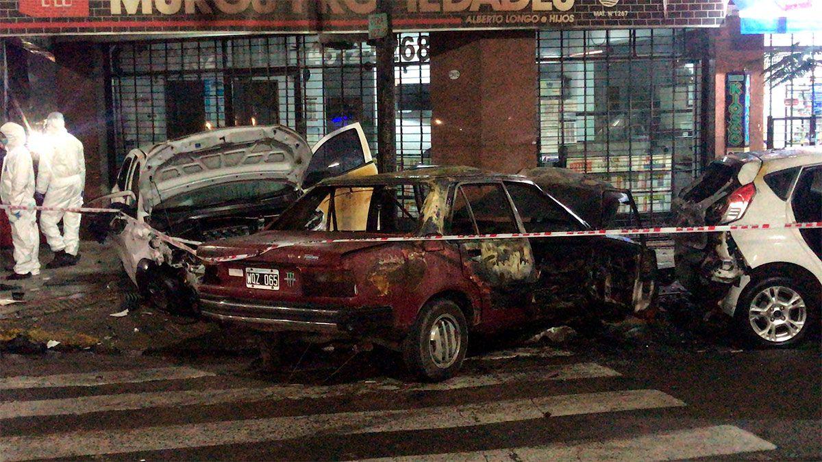 Video: trágico accidente con un muerto y un auto incendiado