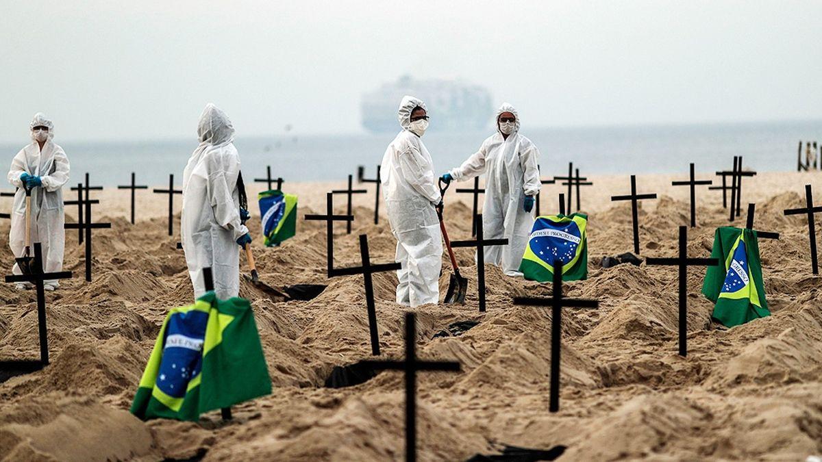 Brasil es uno de los países con mas muertos por coronavirus.