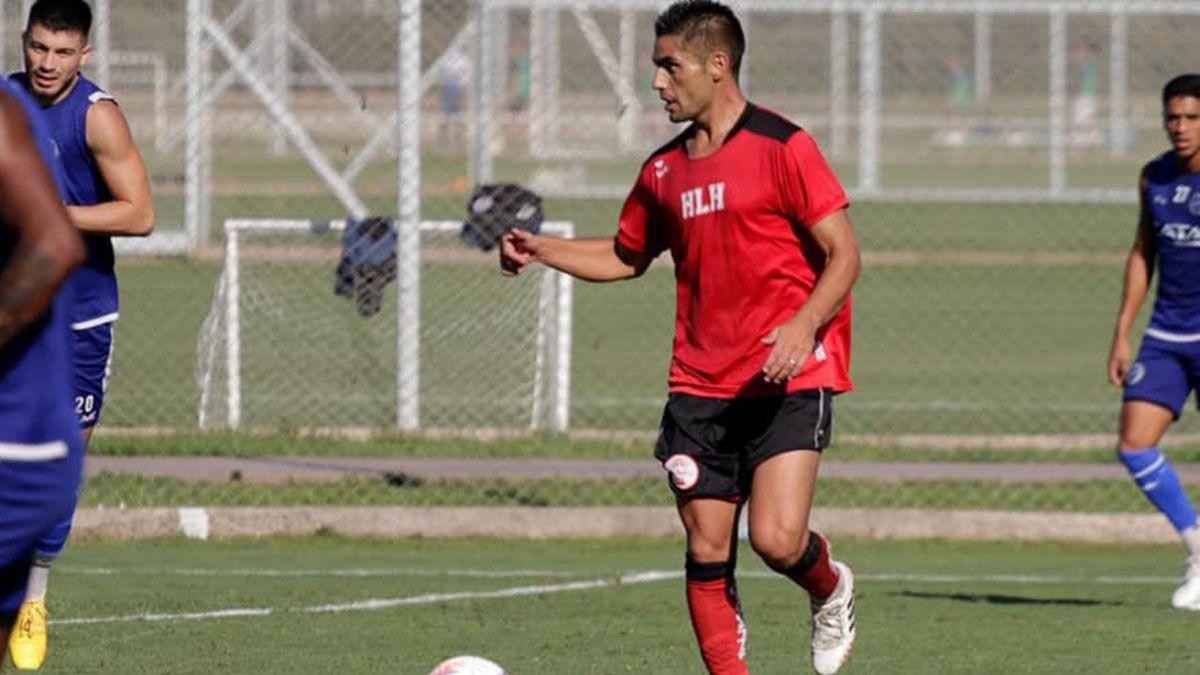 El volante de Huracán Las Heras Luis Daher.