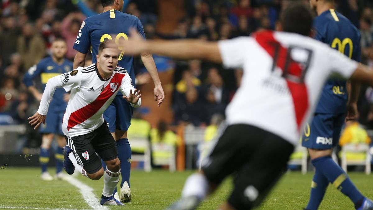 Quintero se fue de River y quedará en la historia por marcar uno de los goles a Boca en Madrid.