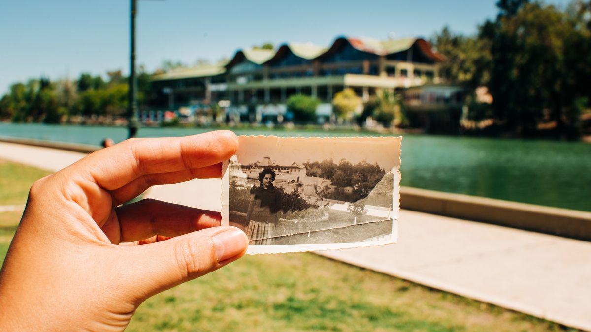 En Mendoza, 60 años después: retrató los lugares en donde sus abuelos fueron felices