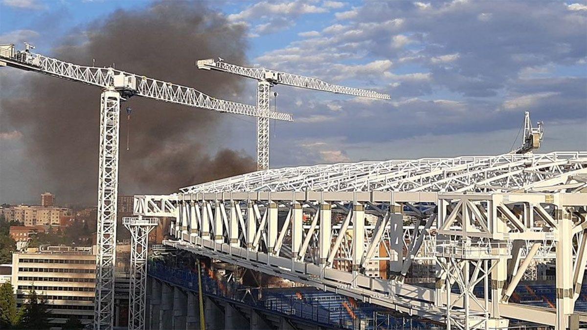 Se incendió el estadio Santiago Bernabéu
