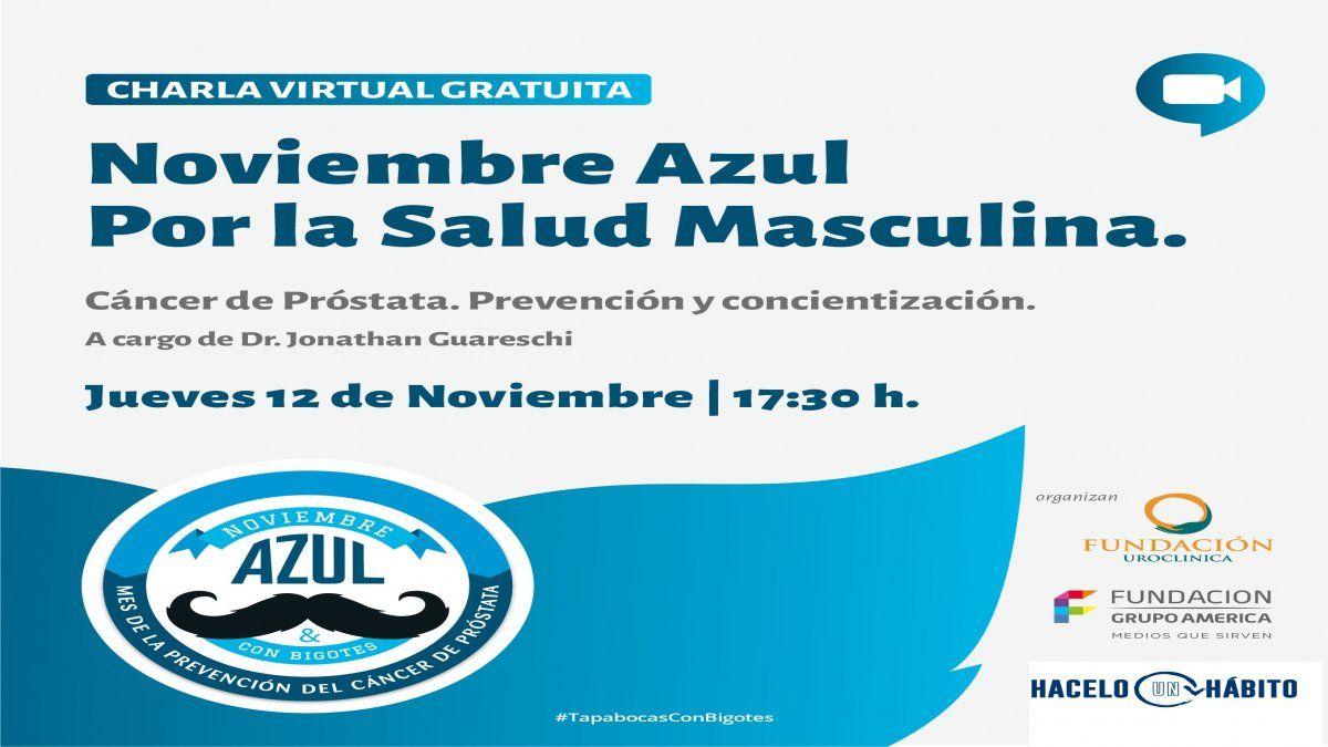 Noviembre azul: charla gratuita sobre el cáncer de próstata