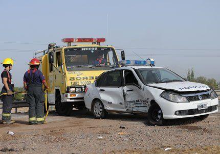 Dos accidentes en el Acceso Sur dejaron varios heridos en Godoy Cruz