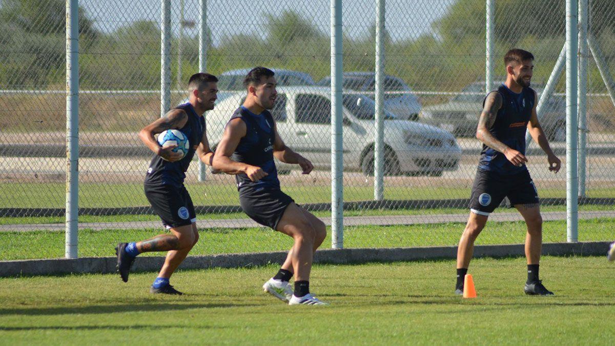 El plantel de Godoy Cruz está enfocado en el choque ante Central Córdoba.
