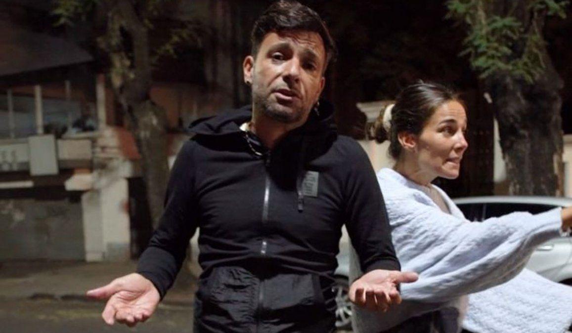 Juana Viale y Martín Bossi discutiendo en plena calle: Me voy a matar
