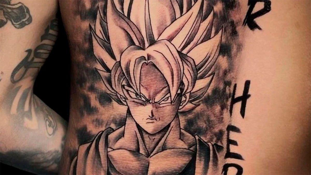 Neymar se hizo un impresionante tatuaje de Goku
