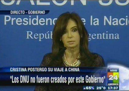 Cristina postergó su viaje a China para que Julio Cobos no la reemplace