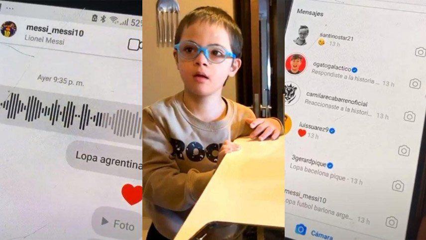 El hijo de Montillo tomó el celular de su padre y les mandó mensajes a Messi, Piqué y Luis Suárez