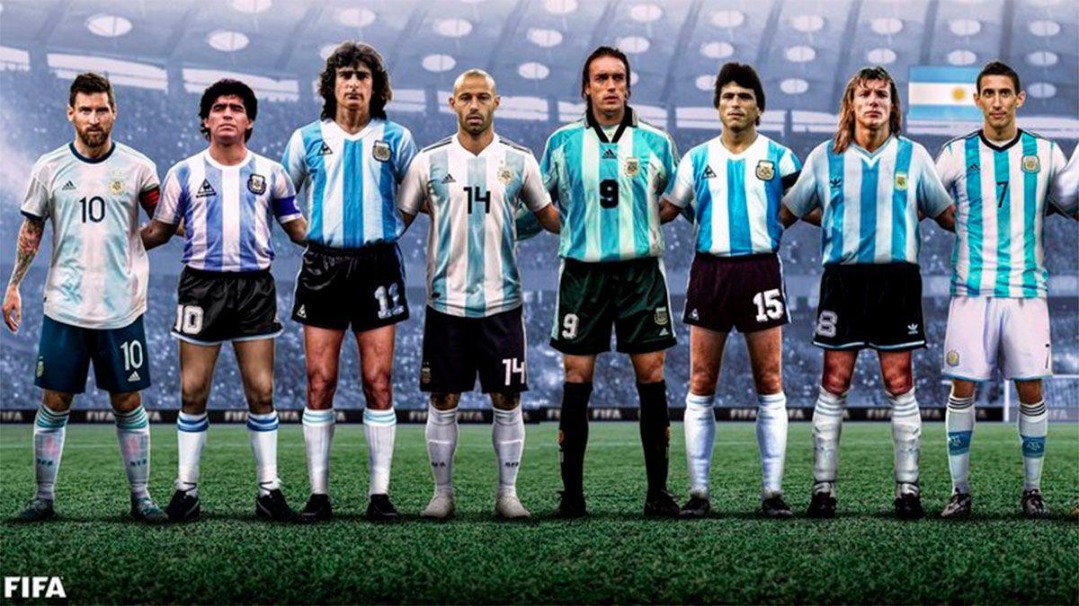FIFA eligió a 16 íconos de la Selección y hubo revuelo