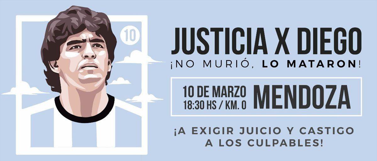 10M: marcha para pedir justicia por Diego Maradona