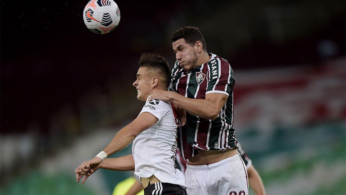River no lo pudo aguantar y empató con el Fluminense