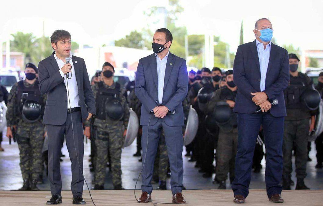 El gobernador Axel Kicillof y el ministro de Seguridad